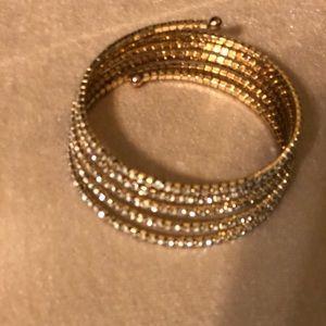 Gold & Diamond Spiral Bracelet !
